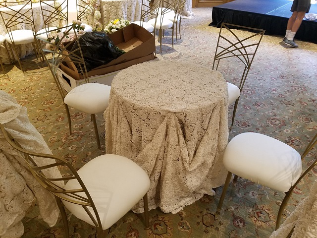 Chameleon Chairs and Beautiful Linens