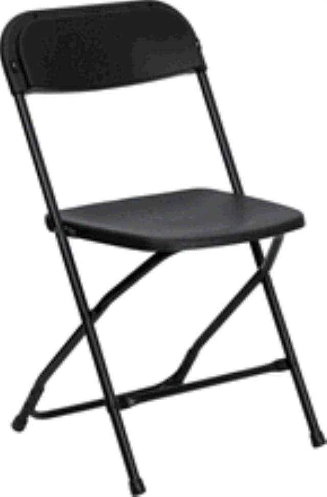 Where to find CHAIR, POLY FOLDING, BLACK in New Orleans