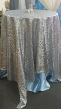 Rental store for LINEN, 70X70  SQUARE SILVER SEQUIN in New Orleans LA