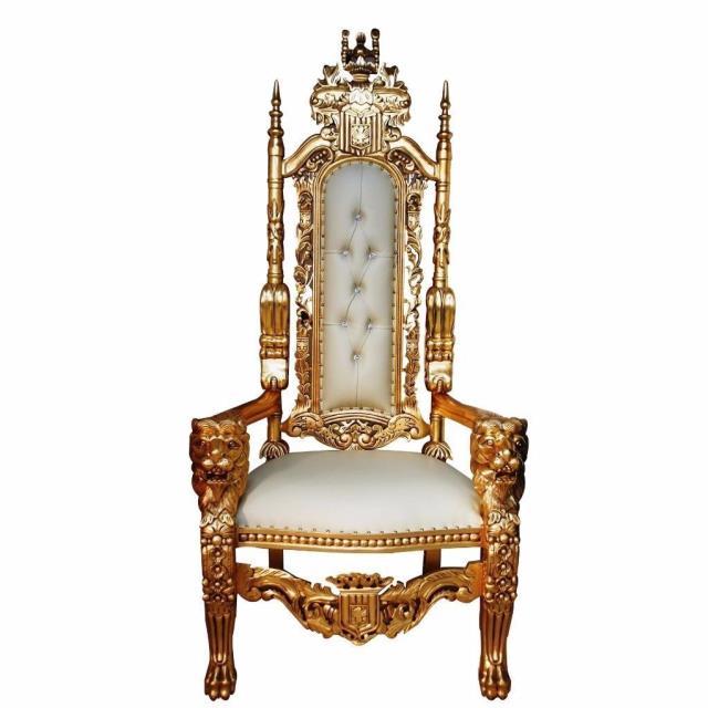 Throne Chair Lion W Gold Trim Rentals New Orleans La