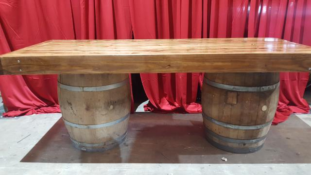 Where to find TABLE, FARM 8  x 3  ON WINE BARRELS in New Orleans