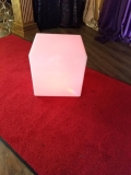 Rental store for CUBE   STOOL LED 16  SQUARE MOLDED PLAST in New Orleans LA