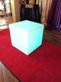 Rental store for CUBE   TABLE  LED 24  SQUARE MOLDED PLAS in New Orleans LA