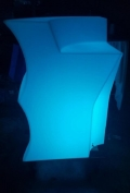 Rental store for BAR, 3  LED MOLDED PLASTIC CURVED in New Orleans LA
