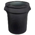 Rental store for COVER, TRASH CAN 55 GALLON SPANDEX BLACK in New Orleans LA