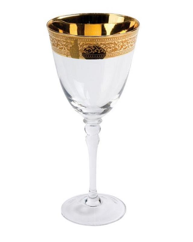 Where to find GLASS, GOLD RIM WINE 14OZ. in New Orleans