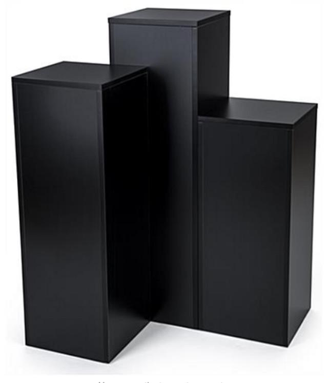 Where to find FLOOR COLUMN SET OF 5 SQUARE, BLACK in New Orleans